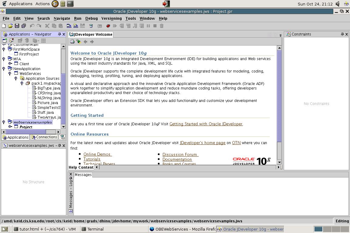 Modelling a simple web service using JDeveloper