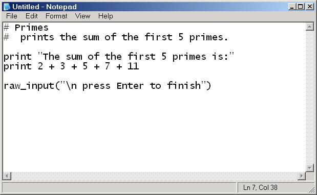 Introduction to the Python programming language